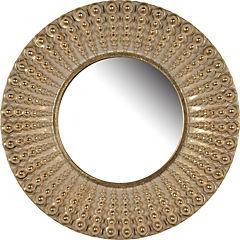 Espejo con marco en poliresina color dorado envejecido 35,5 cm
