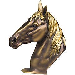 Figura de caballo en resina dorado