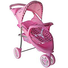 Coche de muñeca Jogger rosado