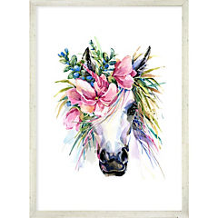 Cuadro Flower Horse 50x35 cm