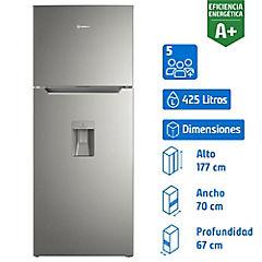 Refrigerador no frost top mount freezer 425 litros inox