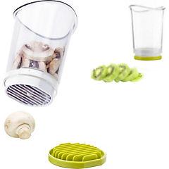 Rebanador de fruta y verdura plástico/acero inoxidable