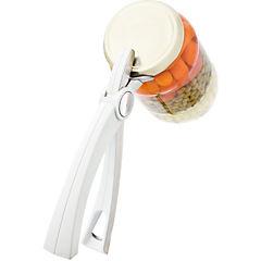 Abridor de frascos plástico/acero inoxidable blanco