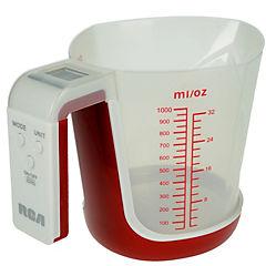 Balanza digital de cocina con recipiente