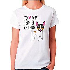 Polera sport mujer talla M terrier chileno