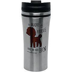 Mug silver poodle café