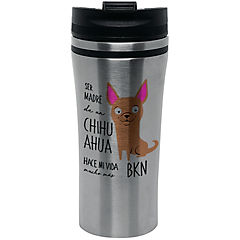 Mug silver chihuahua café