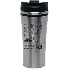 Mug silver chihuahua blanco