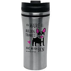 Mug silver bull dog francés byn