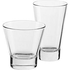 Set 8 vasos de vidrio bar
