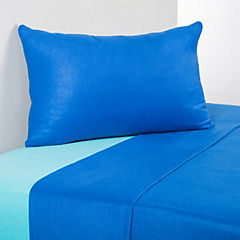 Juego de sábanas polar azul 1 plaza