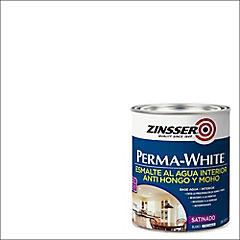 Pintura permanente blanco satinado 1/4 gl