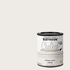 Pintura tizada para muebles 1/4 galón crema gasa