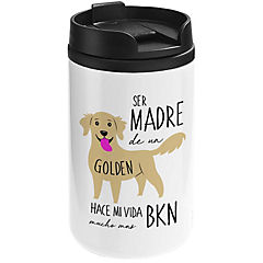 Mug mini blanco golden reriever