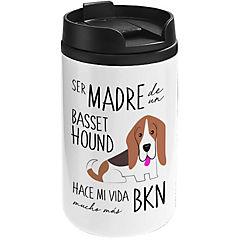 Mug mini blanco basset hound