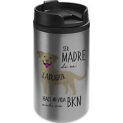 Mug mini acero labrador retriever café