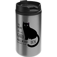 Mug mini acero gato negro