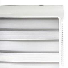 Cortina enrollable duo Lino Grain 200 x 240 cm blanco