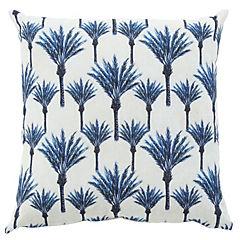 Cojín palmeras azules 45x45 cm