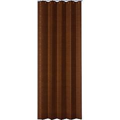 Puerta plegable mdf color marrón 90x200 cm