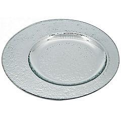 Plato 25 cm excéntrico vidrio plata