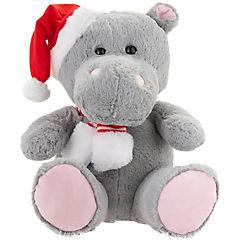 Hipopótamo 40 cm sombrero y bufanda