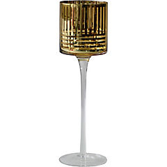 Portavela vidrio 9X9X30 cm