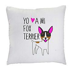 Cojín fox terrier