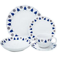 Juego de vajillas 30 piezas blanco-diseños