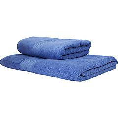 Set 2 toallas 50x80cm/70x140cm celeste