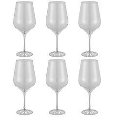 Set 6 copas cristal transparente