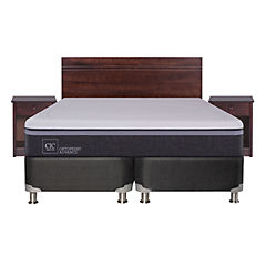 Box spring b5 black 2 plazas base dividida + muebles  villarrica