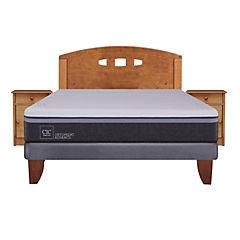 Cama europea 2 plazas base normal + muebles gales