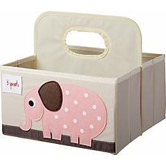 Organizador de pañales elefante 45,5x43x45,5 cm