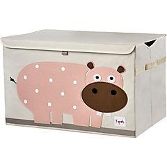 Baúl juguetes hipopótamo 45,5x43x45,5 cm