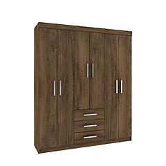 Closet 6 puertas 3 cajones 182x153x42cm