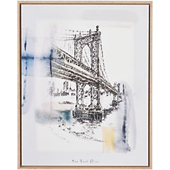 Canvas enmarcado Brookyn Bridge 40x50 cm