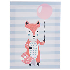 Canvas infantil zorro con globo 30x40 cm