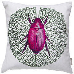 Cojín escarabajo rosa urban jungle 44x44 cm