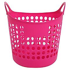 Canasto para ropa 35x32,5x32 cm rosado