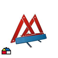 Triángulo reflectante rojo 30 x 30 cm