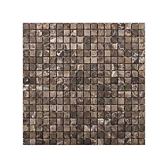 Malla mosaico 30x30 cm marrón oscuro