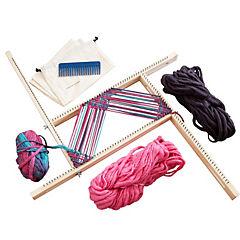 Kit telar regulable 52x52 cm + lanas tonos cálidos