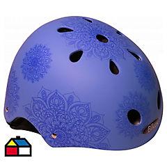 Casco mandalas azul talla S