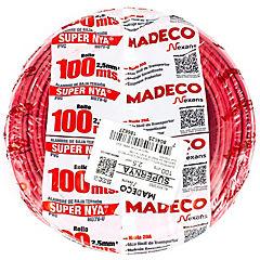 Alambre de cobre aislado (H07V-U) 2,5 mm2 100 m Rojo