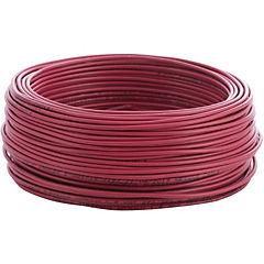Alambre de cobre aislado (H07V-U) 1,5 mm2 50 m Rojo