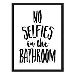 Cuadro frase no selfies 40x50cm marco negro