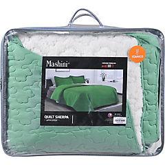 Quilt sherpa king verde