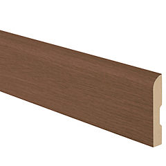 Pack guardapolvo MDF nogal 12x70 mm x 2,4 m - 4 unidades