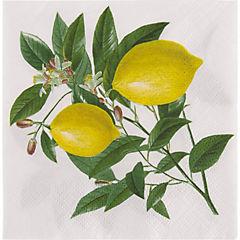 Servilleta papel 25x25 cm limones 20 unidades